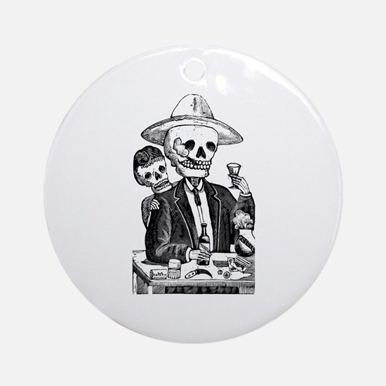 Calavera Tapatia Ornament (Round)