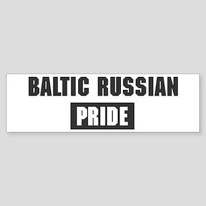 Baltic Russian pride Bumper Sticker