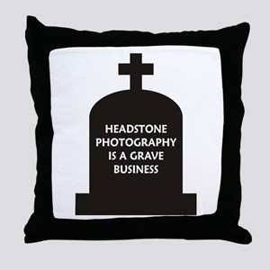 Grave Photography Throw Pillow