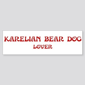 Karelian Bear Dog lover Bumper Sticker