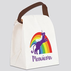 Unicorn Cat Canvas Lunch Bag