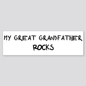 Great Grandfather Rocks Bumper Sticker