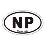North Pole NP Euro Oval Sticker