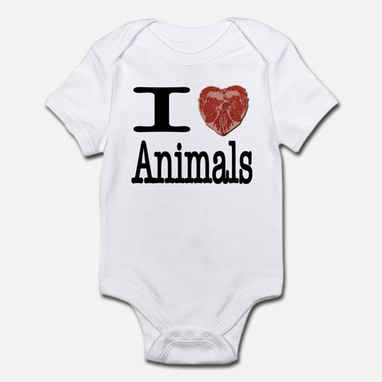 I Heart Animals Infant Bodysuit