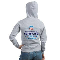 Obama: 69,457,159 Votes for Change Women's Hoodie