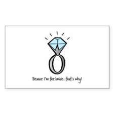 bridezilla Rectangle Sticker