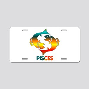 Rainbow Pisces Aluminum License Plate