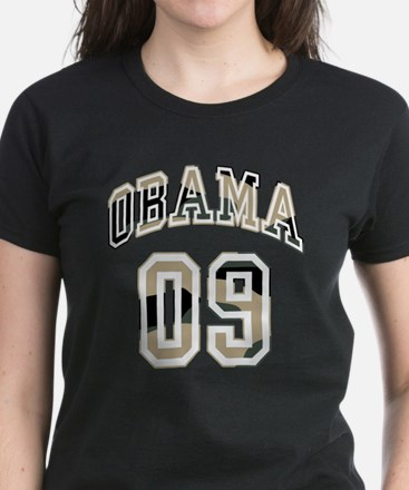 Barack Obama camo 09 Women's Dark T-Shirt