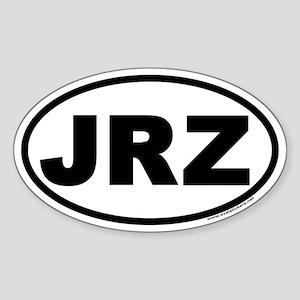 JRZ New Jersey Euro Oval Sticker