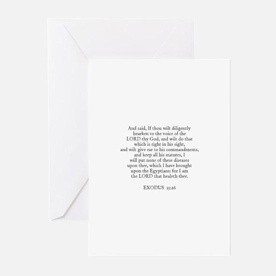 EXODUS  15:26 Greeting Cards (Pk of 10)