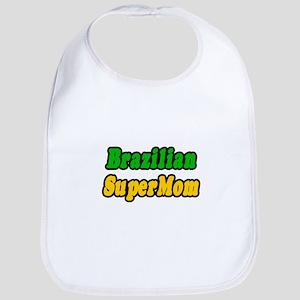 """Brazilian Super Mom"" Bib"
