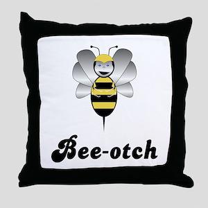 Robobee Bumble Bee Bee-otch Throw Pillow