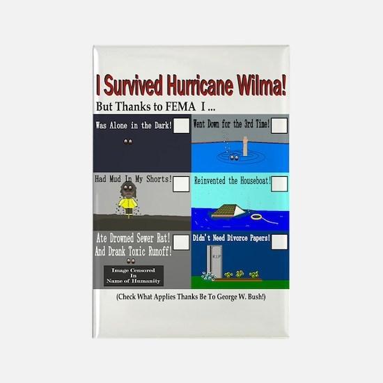 I Surrived Hurricane Wilma Rectangle Magnet