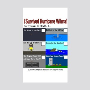 I Surrived Hurricane Wilma Rectangle Sticker