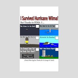 I Surrived Hurricane Wilma Rectangle Sticker