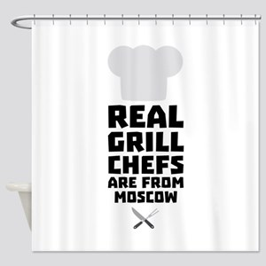 Real Grill Chefs are from Moscow C8 Shower Curtain