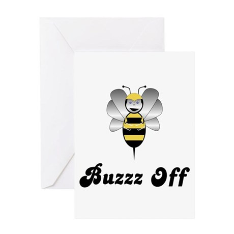 Robobee Bumble Bee Buzz Off Greeting Card