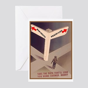 War = death Greeting Cards (Pk of 10)