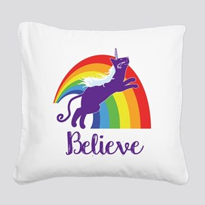 Unicorn Cat Square Canvas Pillow