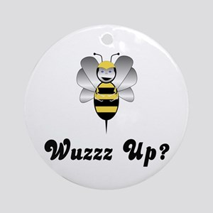 Robobee Bumble Bee Wuzz Up Ornament (Round)