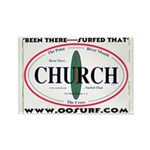 Church Surf Spots Rectangle Magnet (100 pack)