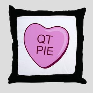 """""""QT Pie"""" Throw Pillow"""