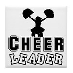 Cheerleading Tile Coaster