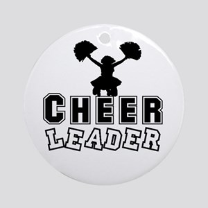 Cheerleading Ornament (Round)