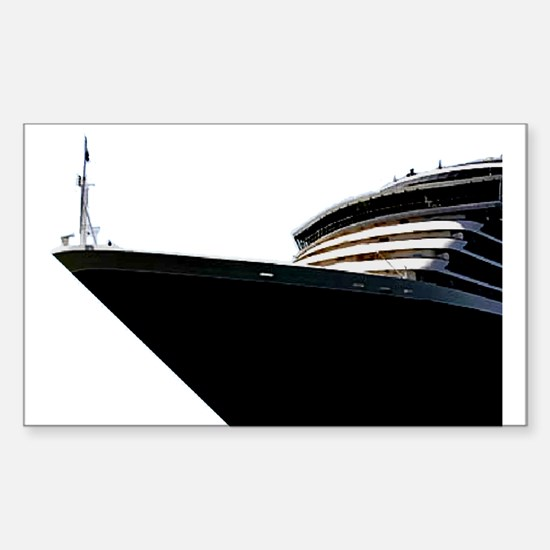 Bow of a Cruise Ship Rectangle Decal