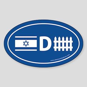 Israel Defense Oval Sticker