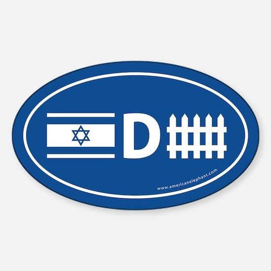 Israel Defense Oval Decal