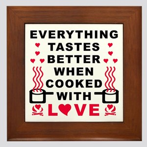 COOKED WITH LOVE Framed Tile