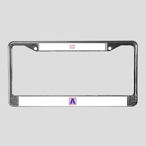 Obsessive Hammer Throw Disorde License Plate Frame