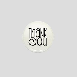 Thank You Black Mini Button