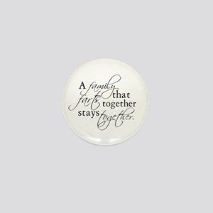 A FAMILY THAT FARTS TOGETHER Mini Button