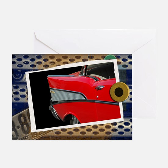 57 Chevy Bel Air Greeting Card
