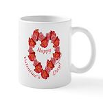 Rose Wreath, Right Handed Mug