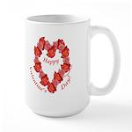 Rose Wreath, Right Handed Large Mug