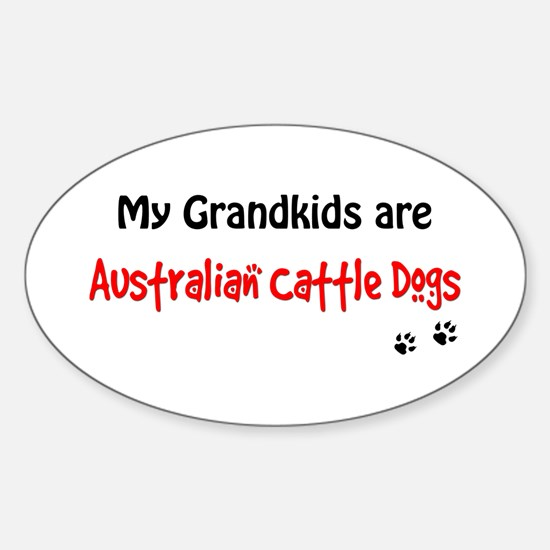 Cattledog Grandkids Oval Decal
