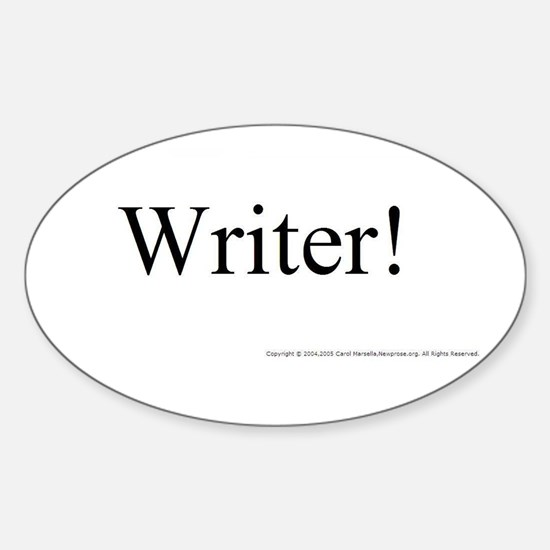 WRITER! Oval Decal