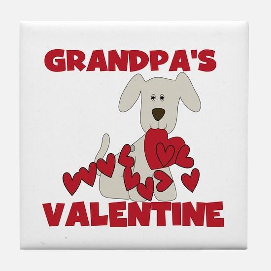 Dog Grandpa's Valentine Tile Coaster