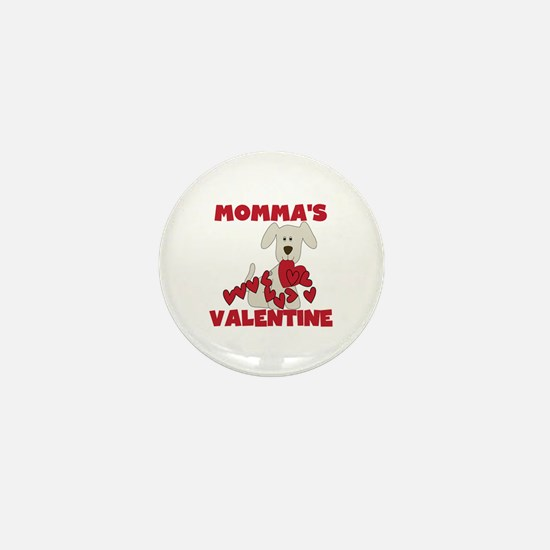 Dog Momma's Valentine Mini Button
