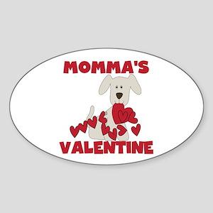 Dog Momma's Valentine Sticker (Oval)