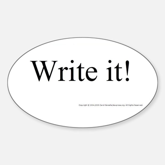 WRITE IT! Oval Decal