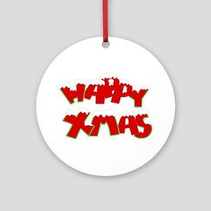 Happy Xmas Ornament (Round)