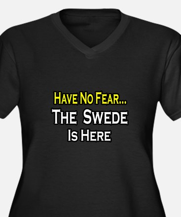 """""""No Fear, Swede is Here"""" Women's Plus Size V-Neck"""
