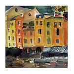 Watercolor Italian Waterfront Tile Coaster