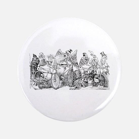 """Calaveras en Bicicleta 3.5"""" Button"""