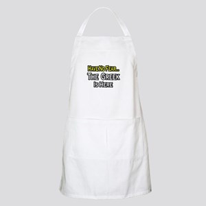 """No Fear, Greek is Here"" BBQ Apron"