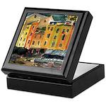 Watercolor Italian Waterfront Keepsake Box